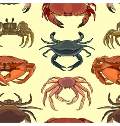 Pattern of crab icons vector