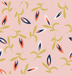 Pink with whimsical white red and classic blue vector