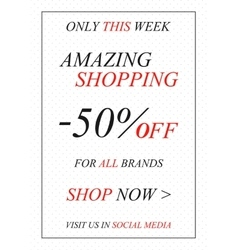 promotional Amazing Shopping banner vector image