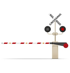 Railroad crossing 02 vector