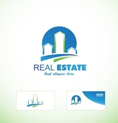Real estate logo icon city scape vector