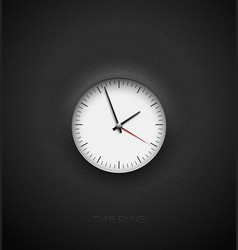 realistic bright white round clock cut out on vector image
