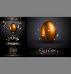 restaurant menu template for 2017 easter vector image