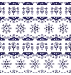 Scandinavian Nordic seamless Christmas pattern vector image