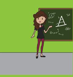 school teacher doodle vector image