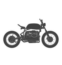 scrambler vintage motorcycle cafe racer theme vector image