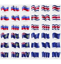 Slovenia Costa Rica Pitcairn Islands European vector