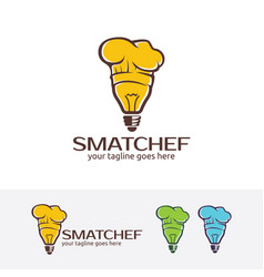 smart chef logo vector image