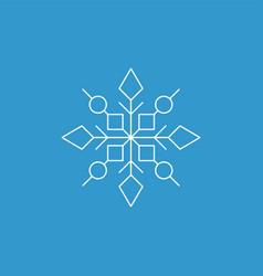 snowflake icon white silhouette snow flake sign vector image