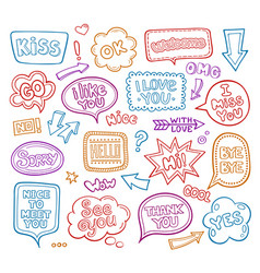 Sound bubble speech bubbles with phrases word vector