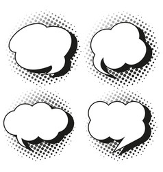 speech bubble templates in grayscales vector image