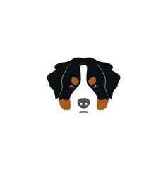 St bernard dog head vector
