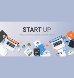 startup concept new business plan creative vector image