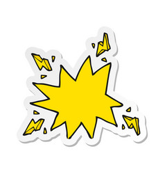 Sticker of a cartoon electrical sparks vector