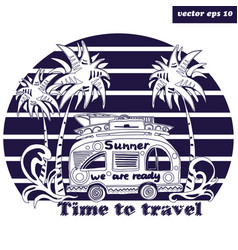 Summer bus vector