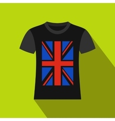 T-shirt with the British flag icon flat style vector