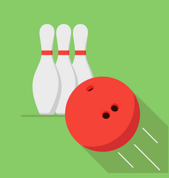 The bowling ball is moving toward the pin play of vector