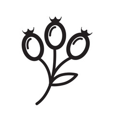 Thin line flower bud icon vector