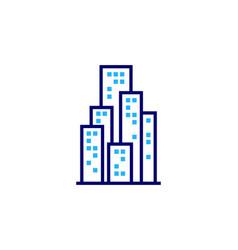 town real estate logo icon design vector image