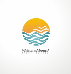 Travel agency creative symbol concept vector