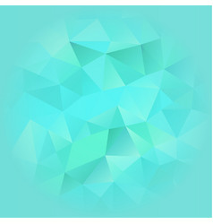 turquoise blue poligonal background vector image
