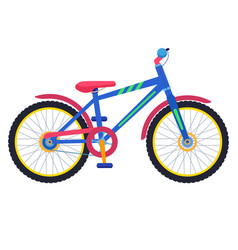 two-wheeled colorful children bicycle vector image