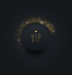vip black label with golden crown vector image