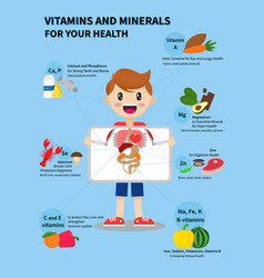 vitamins and minerals vector image