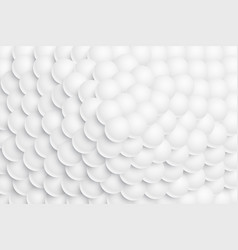 White 3d sphere balls stacked in a mountain form vector