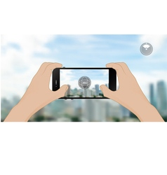 360 degree view in mobile vector image vector image