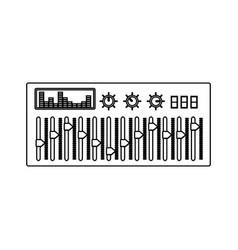 dj turntable design vector image