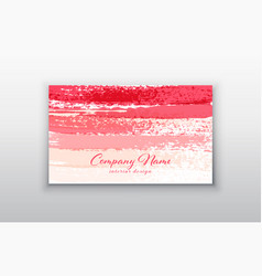 Business card templates with pink gold royalty free vector pink business card templates with brush vector image fbccfo Image collections