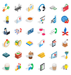 planning icons set isometric style vector image vector image