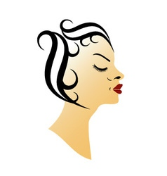 Vintage hairstyle vector image