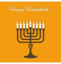 Happy Hanukkah card vector image