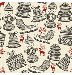 holiday winter pattern vector image vector image