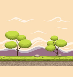 seamless cartoon game background vector image vector image