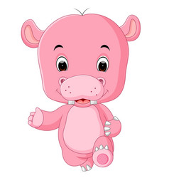 funny hippo jumping vector image