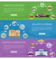 Logistics delivery and storage Banners vector image