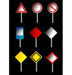 road signs design vector image vector image