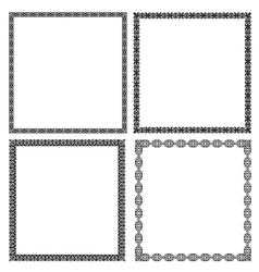 Set of black frames vector image