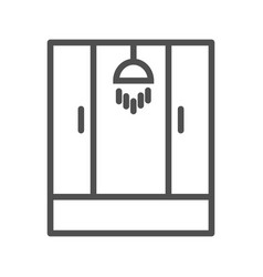shower line icon vector image