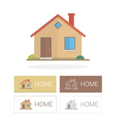 Small house in flat style vector image