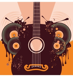 Retro Guitar Poster2 vector image