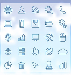 25 development icons set vector
