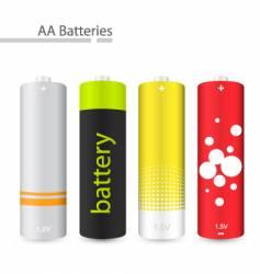 Aa batteries vector