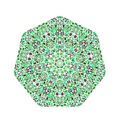 Abstract ornate isolated flower heptagon symbol vector