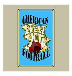 american football v vector image
