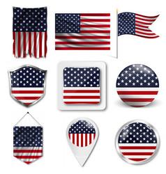 American grunge flag an grunge flag vector