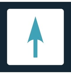 Arrow Axis Y flat blue and white colors rounded vector